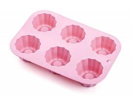 Форма силиконовая для кексов (6 шт на листе) Con Brio