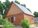 Дачний будинок 6м х 6м з блокхаус з терасою, фото 7