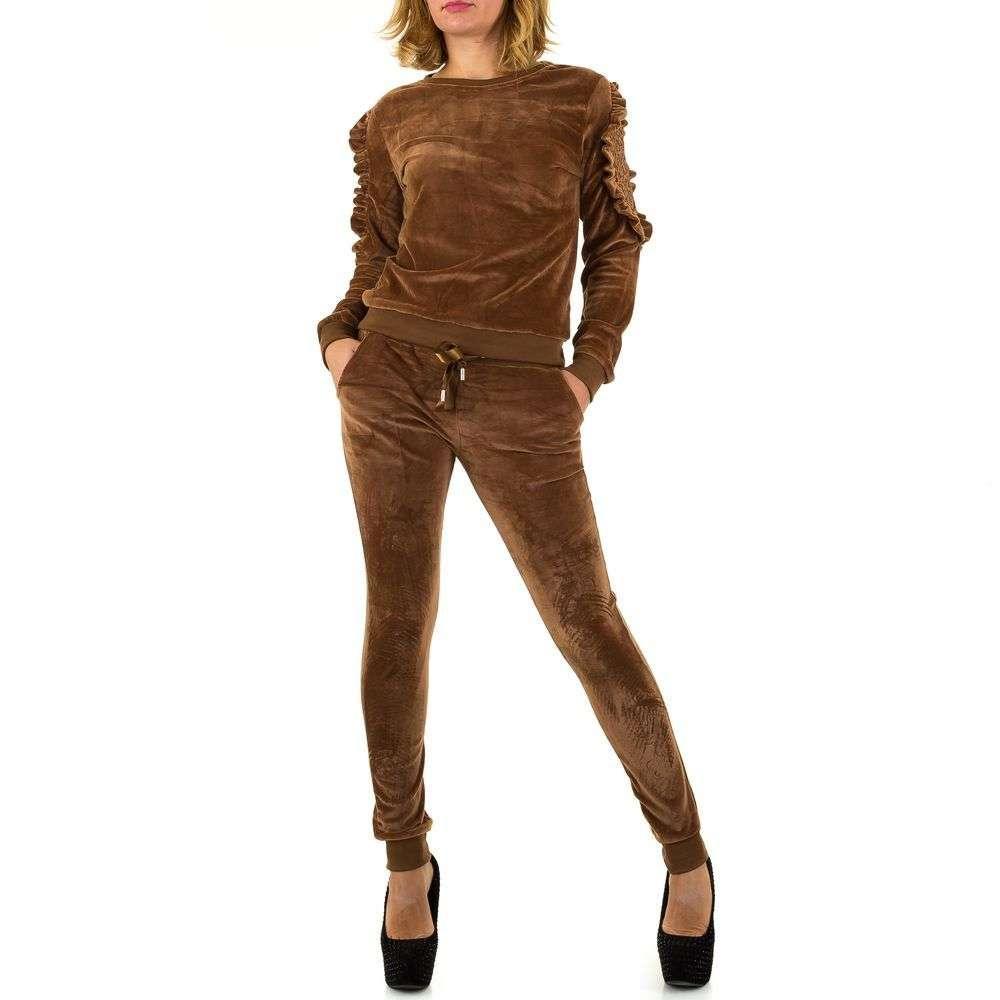 Женский костюм - Браун - KL-WJ-7658-Браун