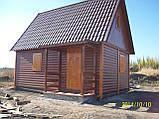 Дачний будинок 6м х 6м з блокхаус з терасою, фото 8
