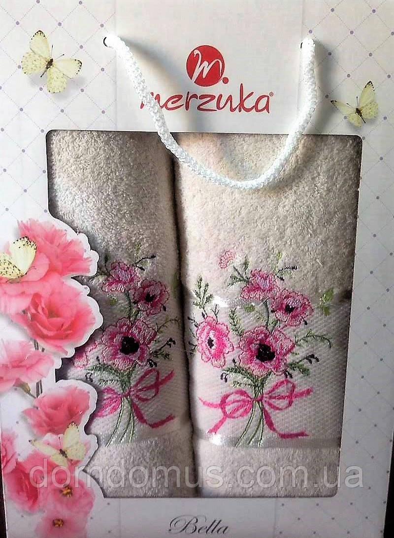 """Подарочный набор полотенец """"Bella"""" (банное+лицевое) , Турция"""