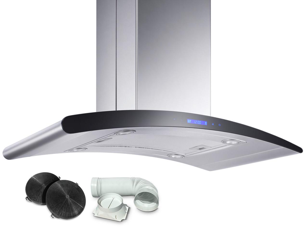 Кухонная вытяжка 90СМ островная BN-9013 +фильтр BERDSEN