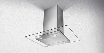 Кухонная вытяжка островная FABER GLASSY ISOLA 90EC стекло + нержавеющая сталь, фото 2