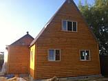 Дачний будинок 6м х 6м з блокхаус з терасою, фото 9