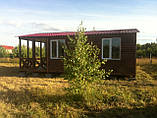 Дачний будинок 6м х 6м з блокхаус з терасою, фото 10