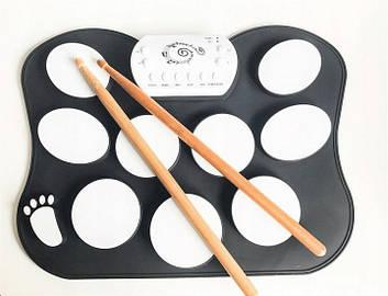 Настольные электронные барабаны Drum Kit силиконовые, фото 2