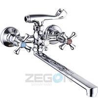 Смеситель ZEGOR ванна длинный DML7-B827