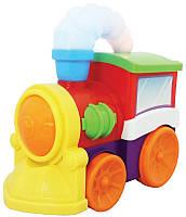 Игрушка развивающая Kiddieland Музыкальный паровоз на колесах со светом и звуком 052357