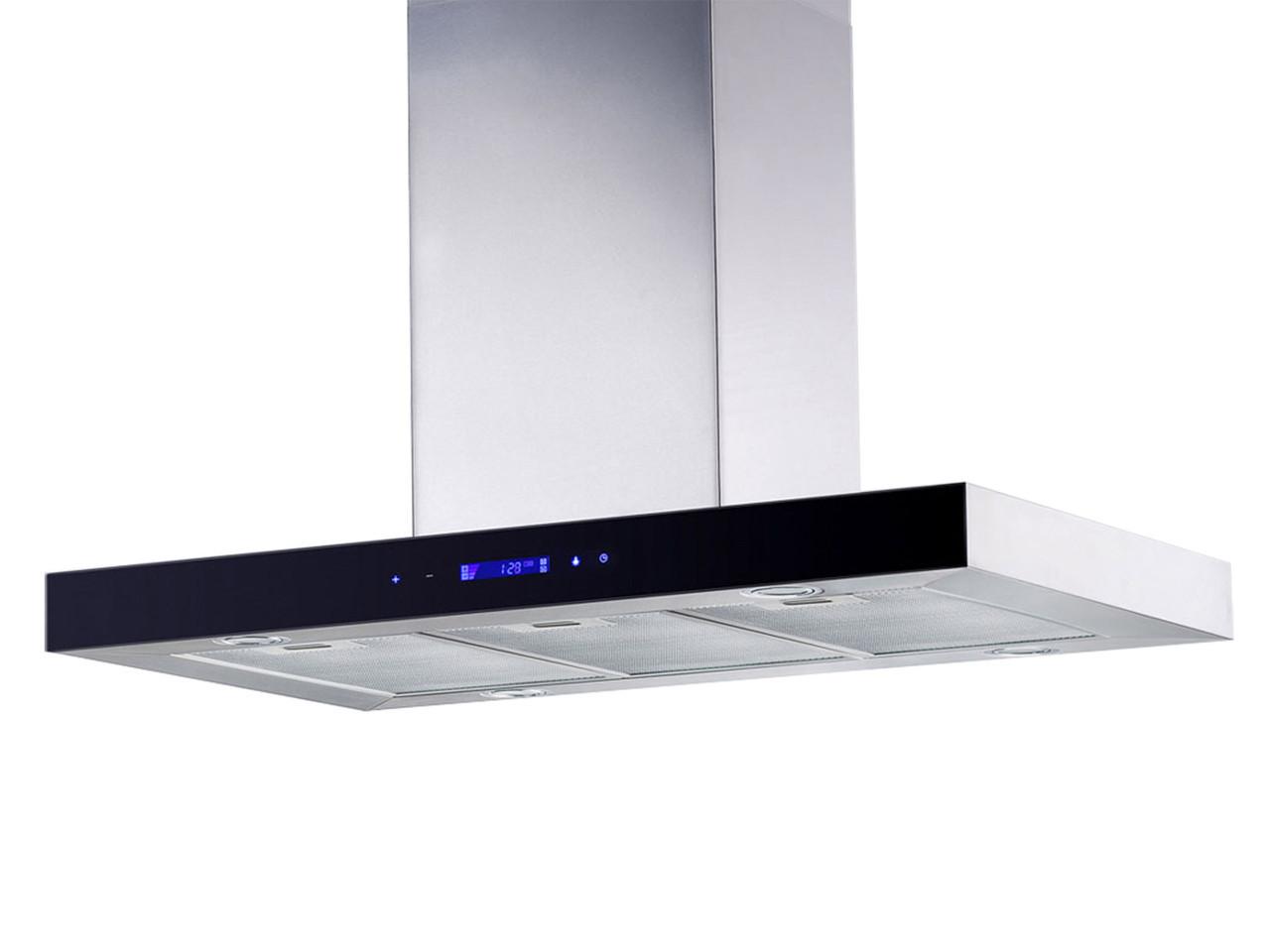 Кухонная вытяжка островная 90СМ БН-9010 INOX