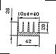 Радиаторный профиль 42х26. Деталь 195мм, фото 3