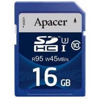 Карта памяти APACER SDHC 16GB Class 10 UHS-I (R95, W45MB/s)
