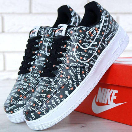 468753ff Мужские кроссовки Nike Air Force 1 Low Just Do It Pack Black: купить ...