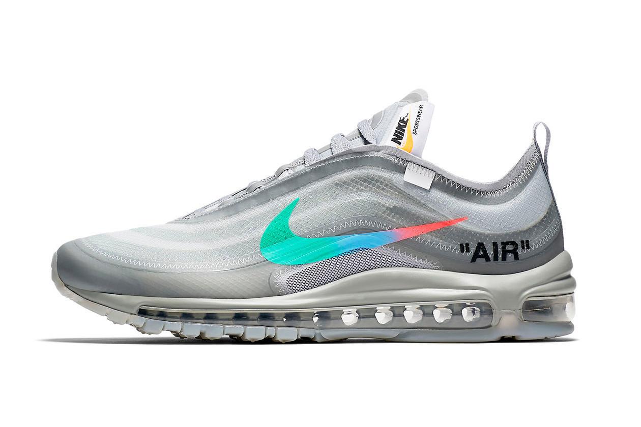 """Кроссовки Nike Air Max 97 Menta Off-White""""Серые"""""""