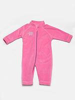 Комбинезон флисовый розовый