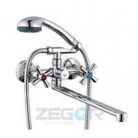 Смеситель ZEGOR ванна длинный DMT7-B722