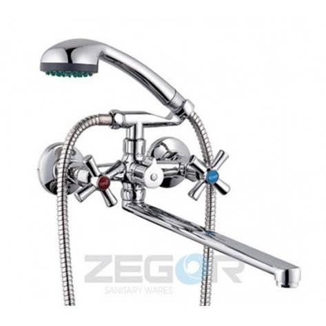 Смеситель ZEGOR ванна длинный DMT7-B722, фото 2