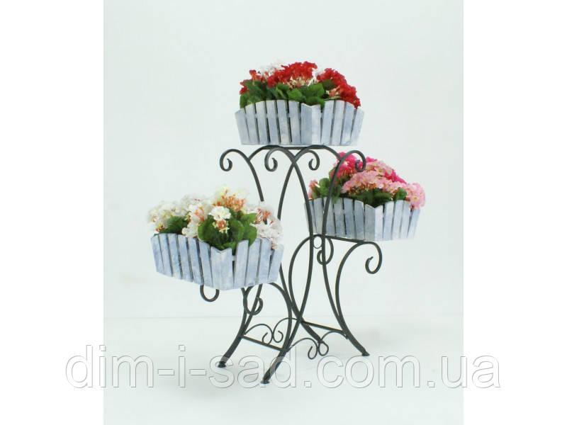 Подставки  кованые для цветов  Лотос 3  Кантри