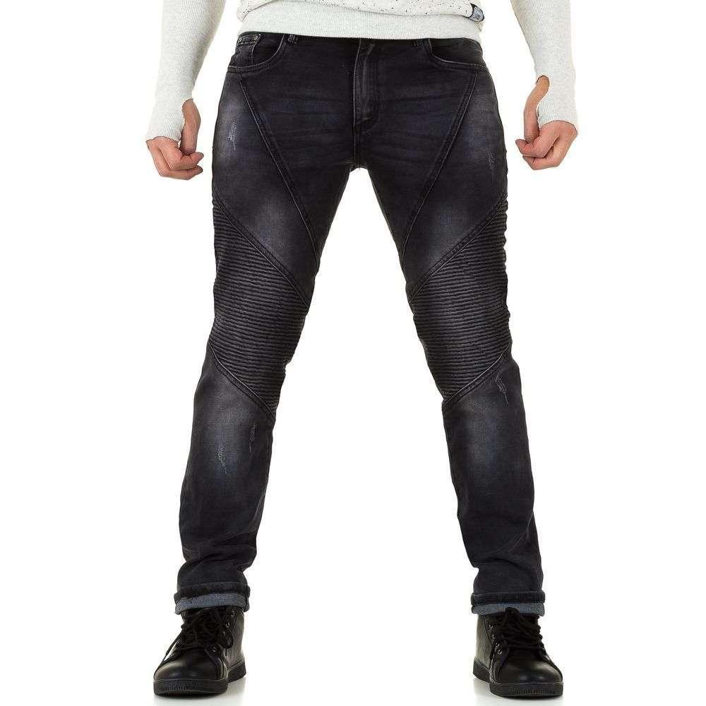 Байкерские джинсы мужские Tfboys Jeans (Европа), Серый