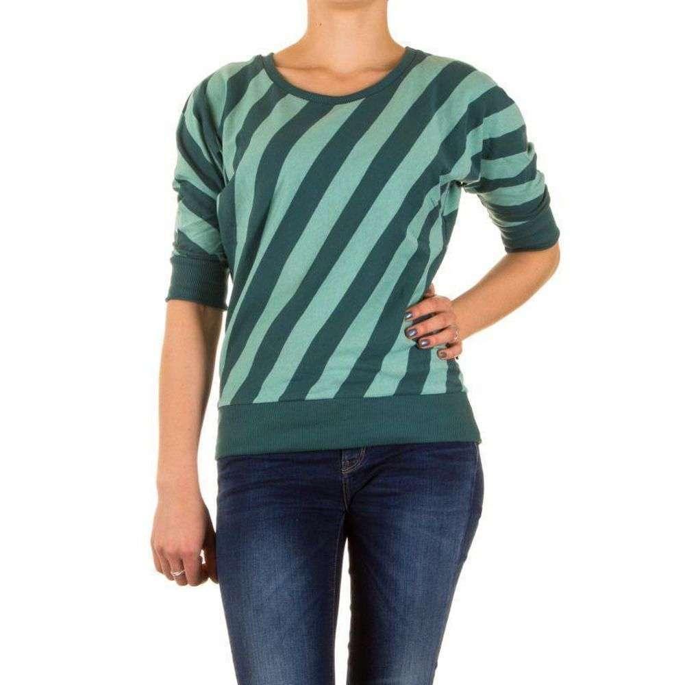 Женский полосатый джемпер с коротким рукавом от Stitch&Soul (Европа), Зеленый