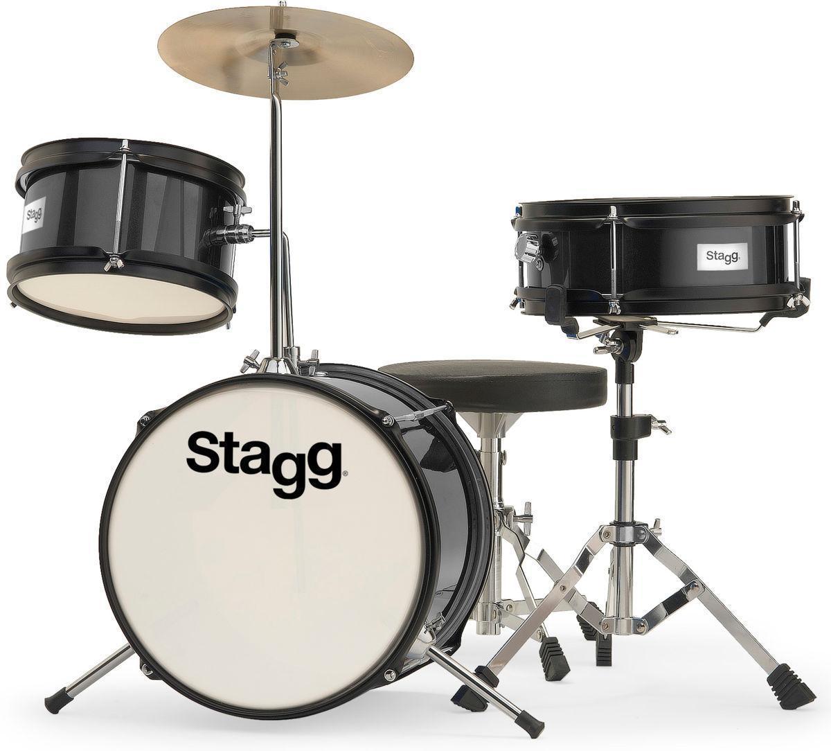 Комплект акустических барабанов Stagg TIM-J 3/12 BK