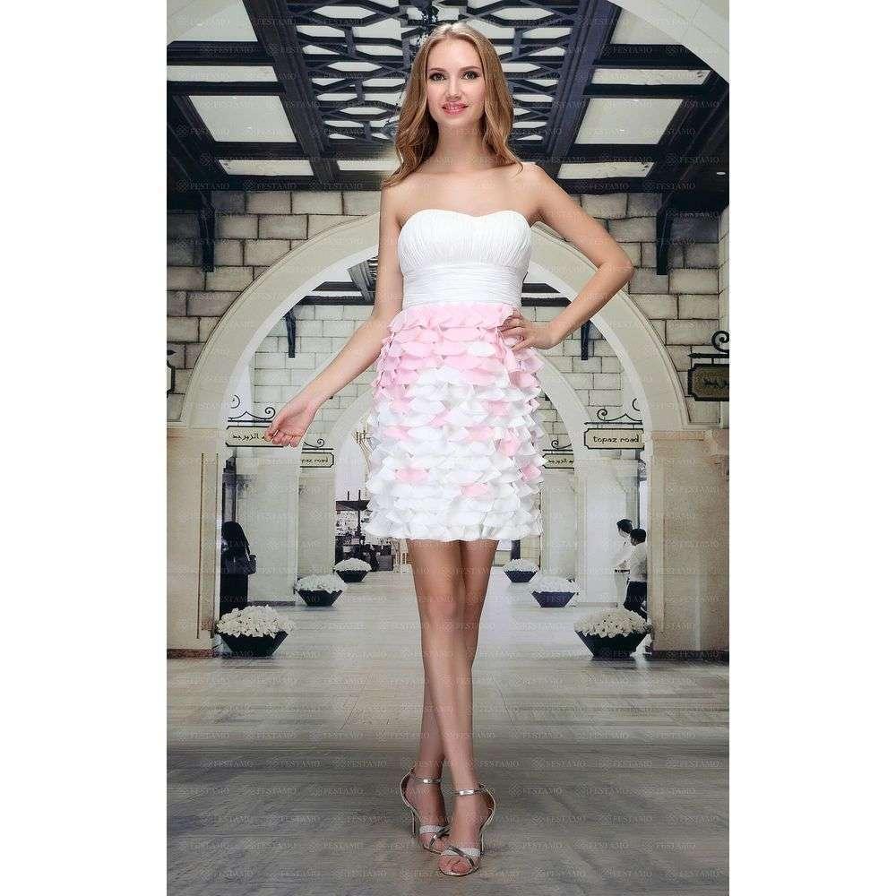 Женское платье от Festamo - белый - Мкл-F1235-белый