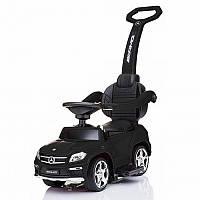 Детская каталка-толокар Мерседес Mercedes AMG, SX1578-2 черный, свет, звук, USB. Разные цвета. На батарейках.