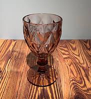 Фужер граненый широкий стекло 8909
