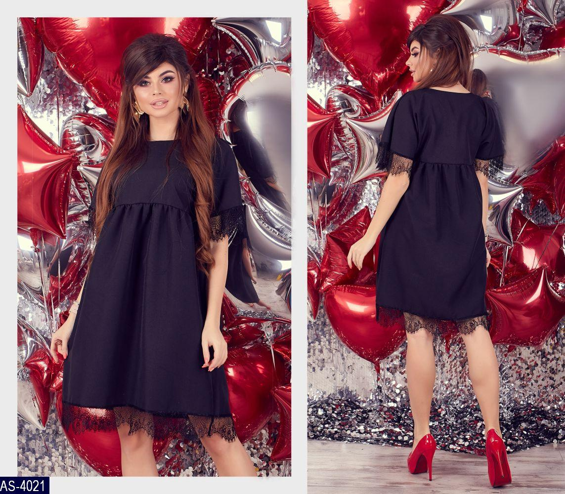 25b9628c791 Женское черное красивое летнее миди платье с коротким рукавом  (габардин