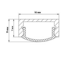 Профиль для светодиодной ленты z306 (аналог ЛП7) анод. Длина планки 2мп, фото 3