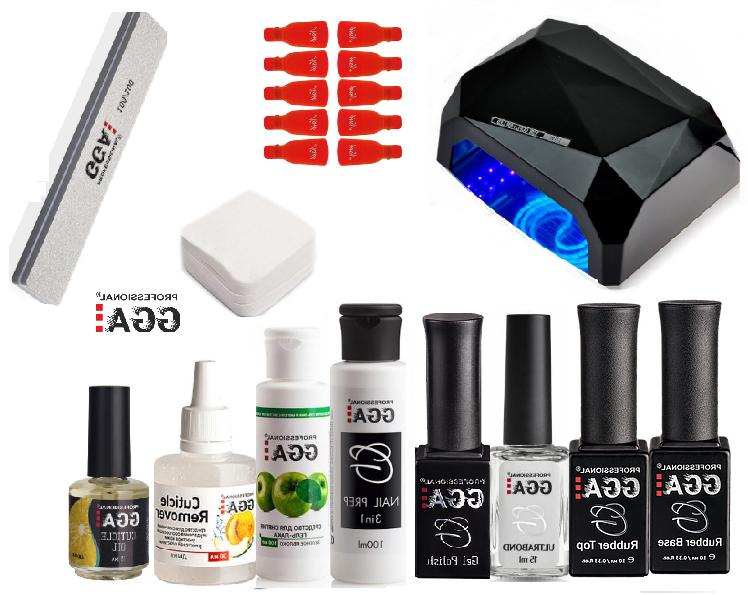 Стартовый набор GGA Professional для покрытия гель-лаком + Лампа гибрид 36 ватт