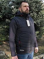 Куртка-жилет 2в1 Napapijri  (replica) тёмно-синий, марсаловый (бордо) 48