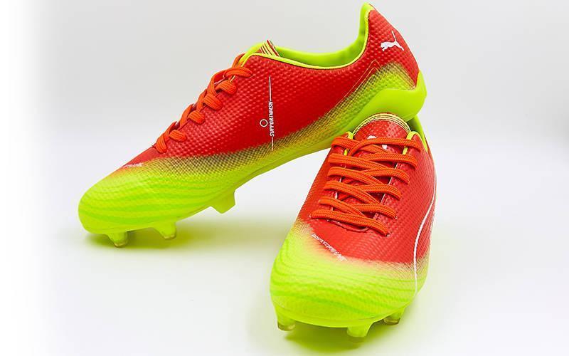 d9002e7d Футбольные бутсы (копы) мужские PM, цвет: оранжевый-лимонный - Интернет-