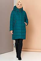 Длинная зимняя женская куртка VS 184, изумруд, фото 1