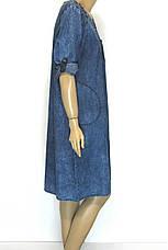 Джинсове плаття  великого розміру, фото 2