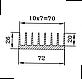 Радиаторный профиль 72х26. Деталь 245мм., фото 4