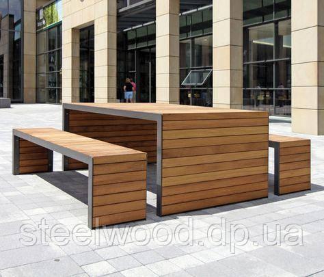 Садовый комплект стол с лавками