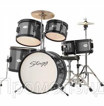 Набор акустических барабанов Stagg TIM JR 5/16 BK детская