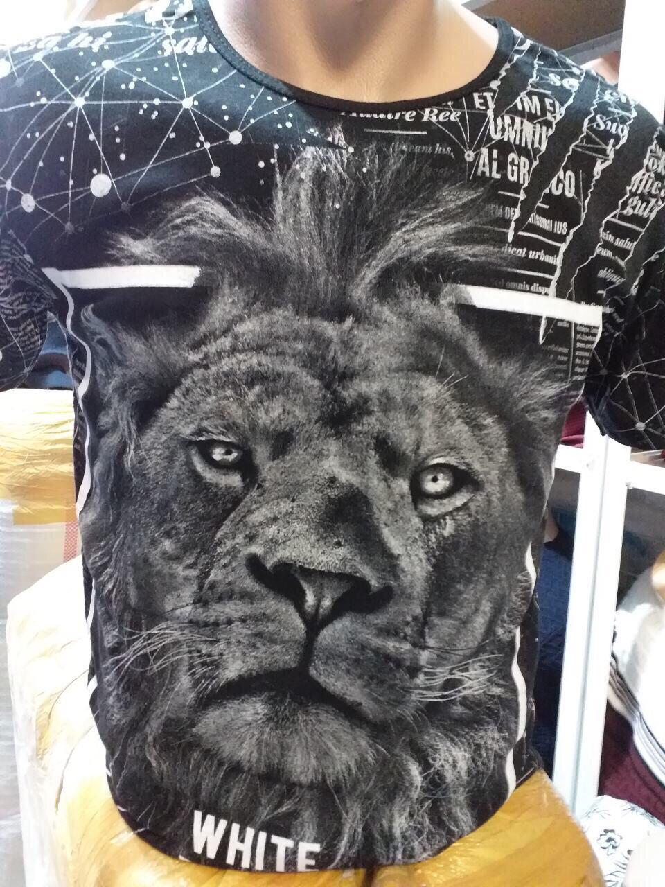 Футболка мужская двухсторонняя  HEAD LION Турция опт