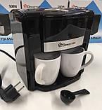 Кофеварка+ 2 чашки Domatec MS-0708 (6 шт/ящ), фото 2