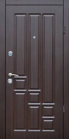 Двери квартирные, модель Т-1 Mottura 54.797, Двухпритворная, гнутый профиль, коробка 106 мм, венге темный, фото 2