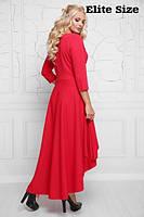 Красивое платье клёш ассиметрия размеры 50,52,54,56