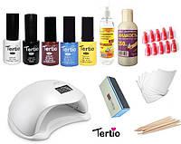 Стартовый набор Tertio для покрытия гель-лаком + Лампа Sun 5 48 W