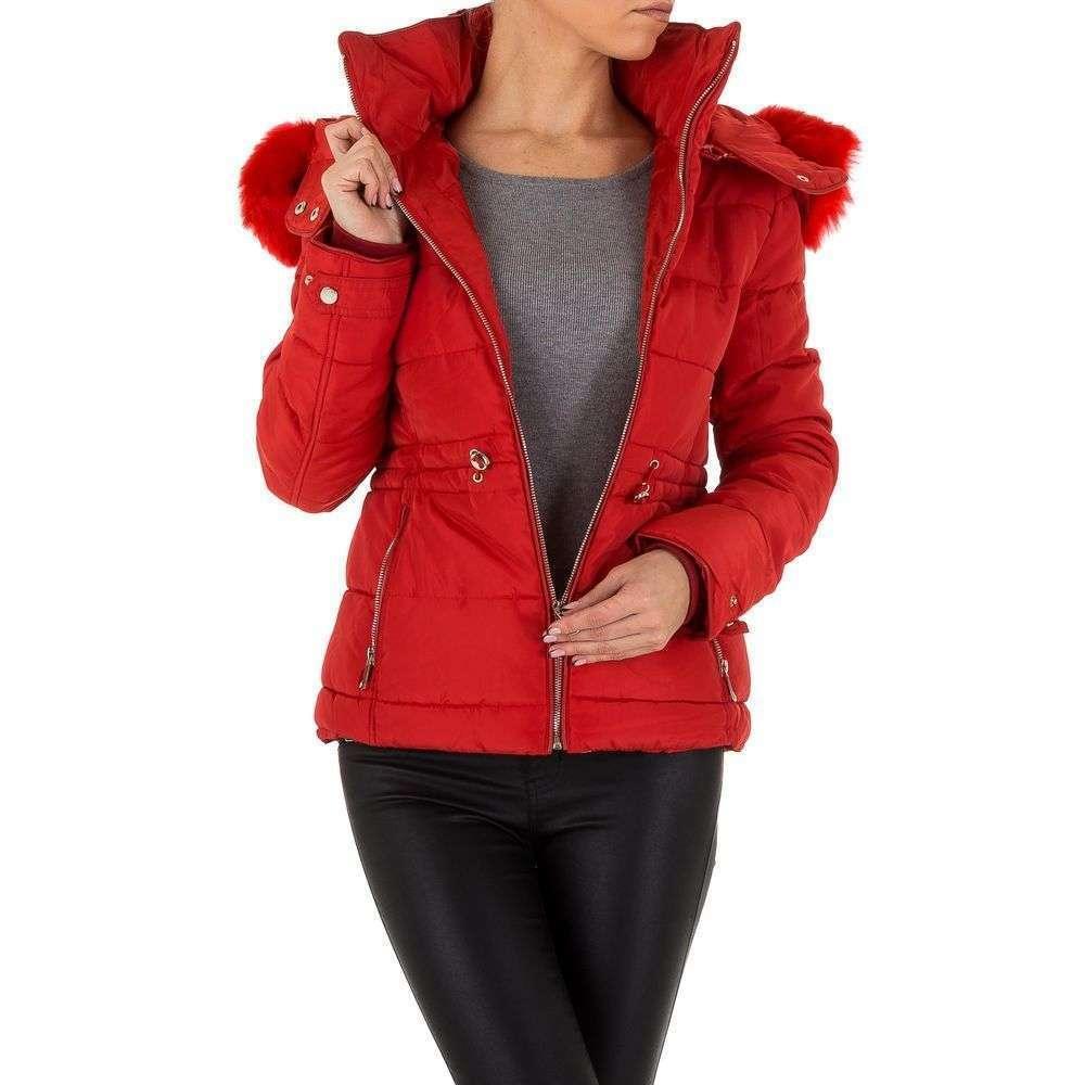 Куртка женская на синтепоне с капюшоном Emmash (Франция), Красный