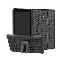 """Чехол бампер для Samsung Galaxy Tab A 10.5"""" T590 T595 T597 (2018) KAMII Shockproof Hybrid Black+Black"""
