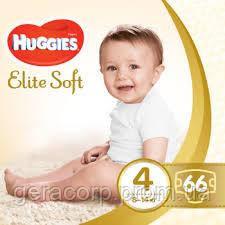 Памперсы HUGGIES elite soft 4 mega 66 шт