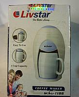 Кофеварка + 1 чашка lsu-1186, капельного типа, компактная, с постоянным фильтром, работает от сети, 280вт