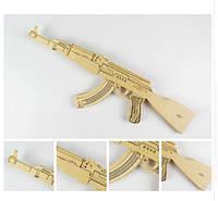 Деревянный макет Оружие! Сборная модель Автомат Калашникова!