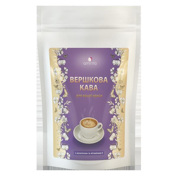 Сливочный кофе с коллагеном и витамином Е Амрита, 180 г