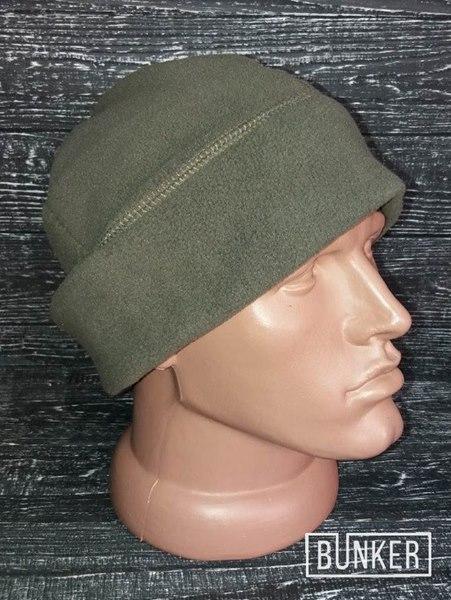 Флисовая шапка/пошлемник в расцветке олива грей