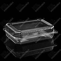 Пластиковая упаковка для суши и роллов прозрачная УК-846, PET, 1710 мл, 260 шт/уп